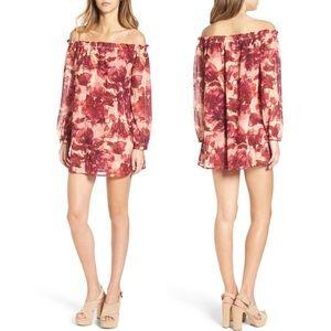 For Love and Lemons Sicily Off Shoulder Mini Dress